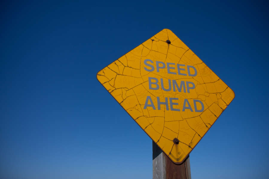 Speed Bump Ahead, $$0.0000
