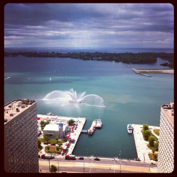 Fireboat in Toronto Harbour